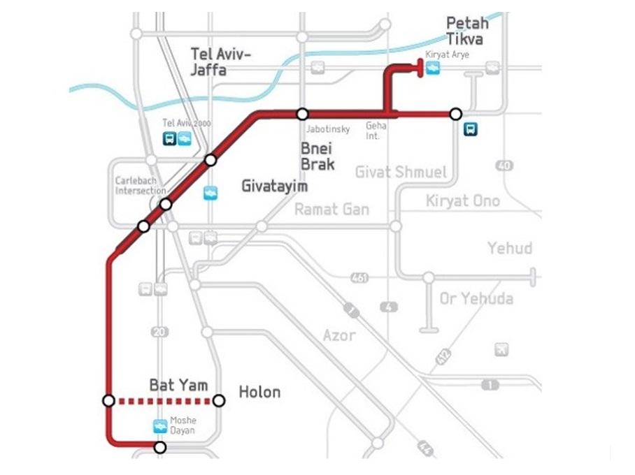 Tel Aviv Metro Red Line Dr Sauer Partners - Ramat gan map