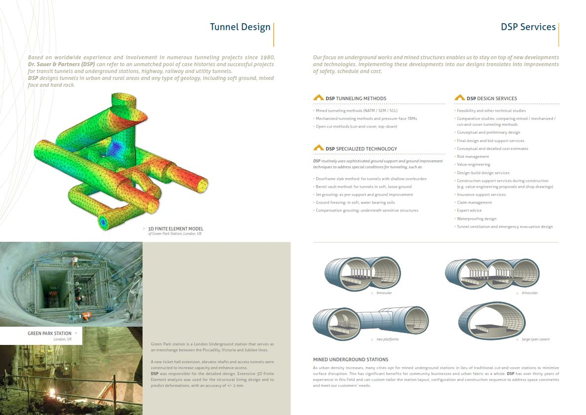 Tunnel Design | Dr  Sauer & Partners