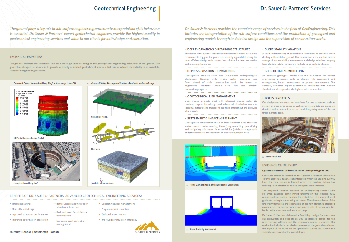 Geotechnical Engineering | Dr  Sauer & Partners