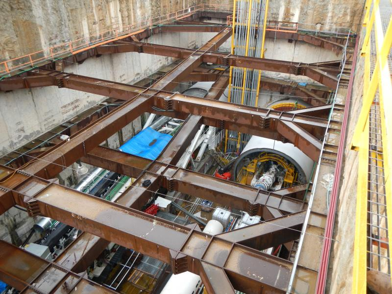 Galei Gil Launching Shaft with TBM